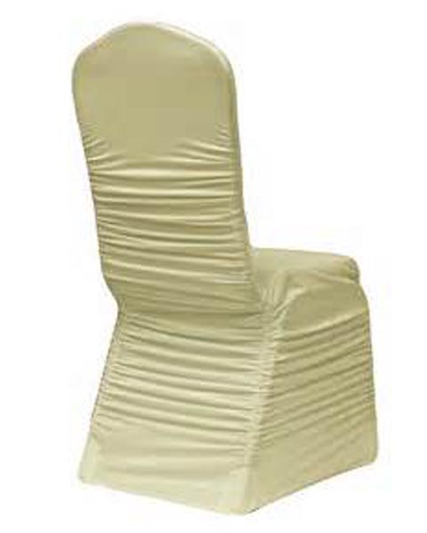 Chair Cover Ruched Ivory