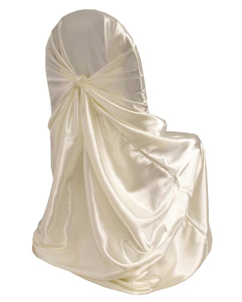 Chair Cover Satin Ivory