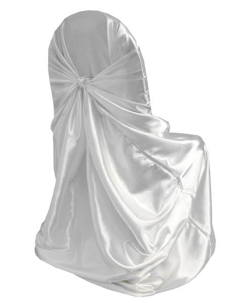 Chair Cover Satin White