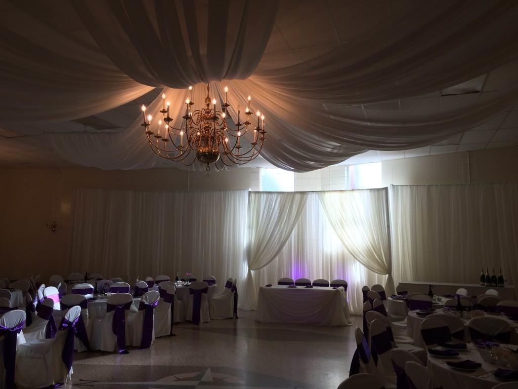 ceiling draping ceilings wedding watch youtube rental