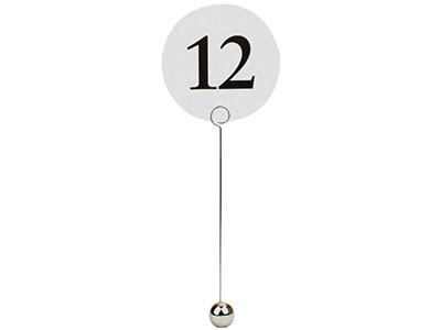 Silver-Table-Number-Sign