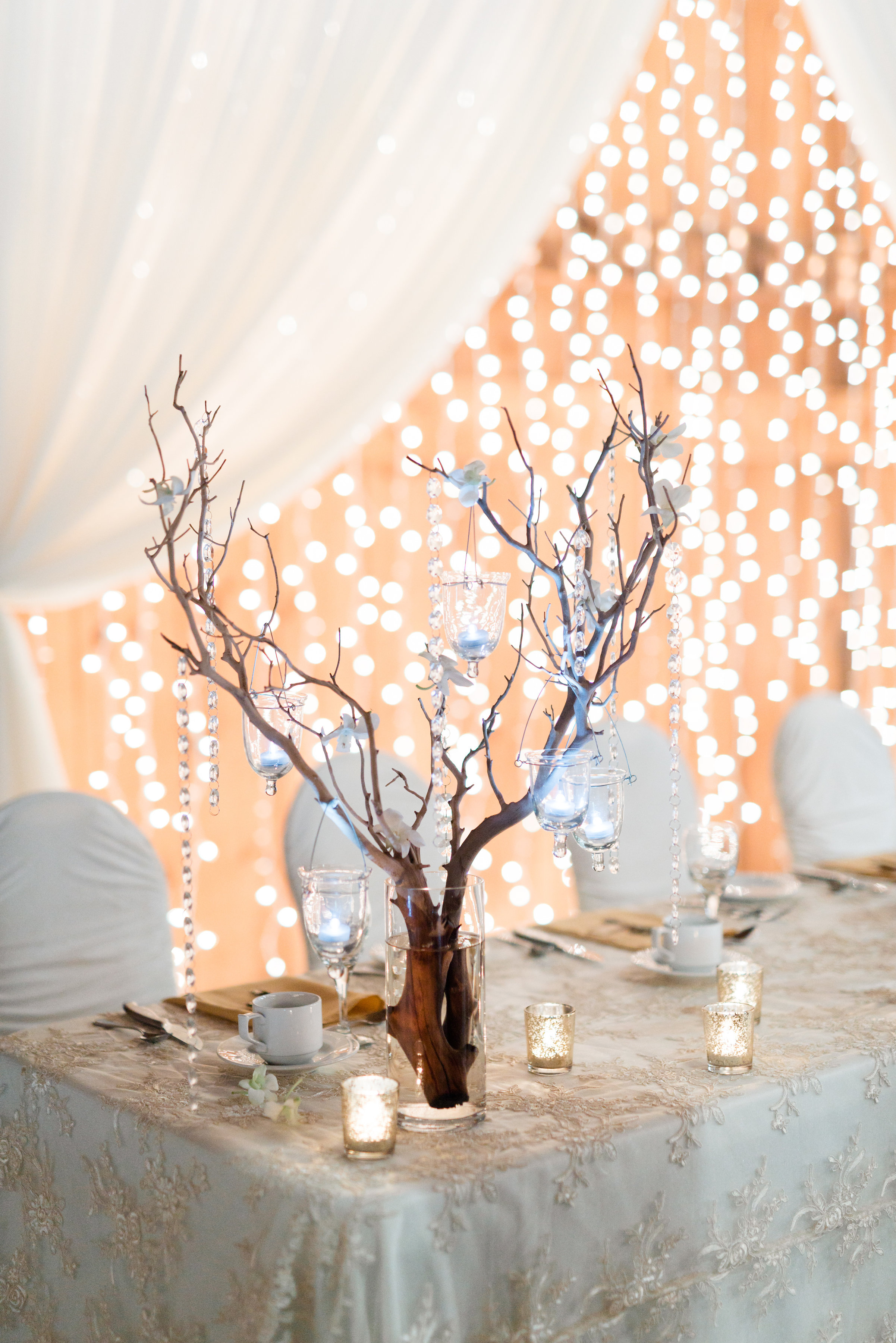 Wedding Decor - Head Table, Open Twinkle Backdrop ...